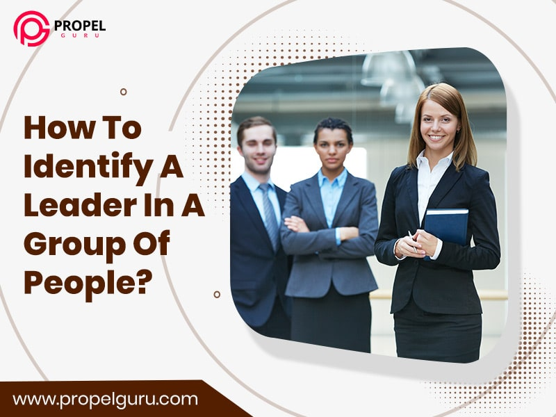 Identifying a leader in a group of people